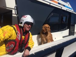 Lough Ree RNLI assist four people and their dog aboard grounded 40ft motor cruiser