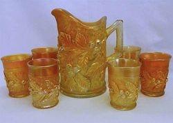 Acorn Burrs 7pc water set, marigold