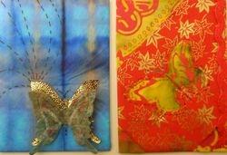 Paper and Batik Fabric...