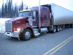 Truck headed to the lower 48. Pic taken in the Yukon, Canada