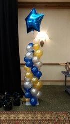 6' Balloon Column w/ 3' Star
