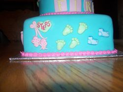 Baby's first Steps Cake