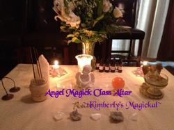 Angel Magick Class Altar