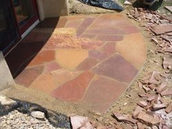 Small Red Flagstone Patio Boulder Colorado