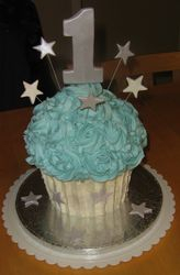 Giant Birthday Cupcake Cake