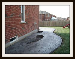 Walkway with Designed Flower Bed
