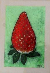 Reverse Art Strawberry 1