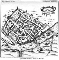 Map of the City of Galway 1610