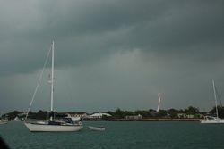 The storm in Marsh Harbour