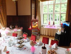 Candy Buffet, Popcorn, Twin chocolate fountain, and slush machine party package hire
