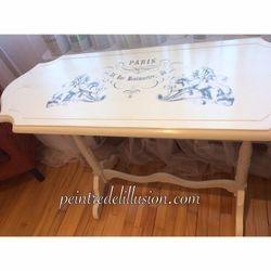 table Peinte avec la Chalk Paint Annie Sloan