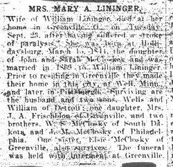 Lininger, Mary 1918