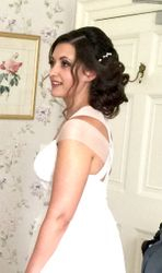 Bridal Wedding Hair and Makeup Bressingham Hall Diss Suffolk Stunning Elegant Updo and Natural look Makeup