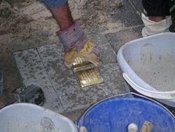 Installing Stumble Stones (Stolperstein)