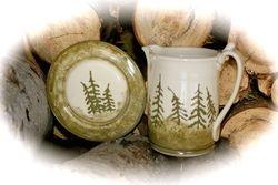 """""""Pine Forest"""" Gravy Pitcher Set ~ Photo 2"""