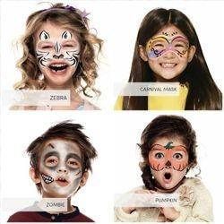 Zebra, Carnival Mask, Zombie, Pumpkin