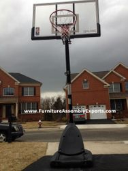 portable basketball hoops assembly service in Washington DC