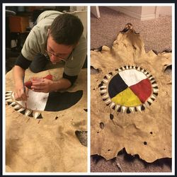 Painting a bear robe