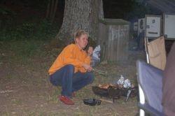 Kristin har tatt over grillsjef stillingen