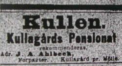 Hotell Kullagarden 1901