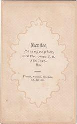 Hendee, photographer of Augusta, Maine - back