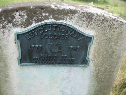 Revolutionary War Plaque on the back of John Michael Garner's stone