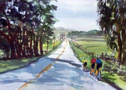 Bicyclers on Highway 227