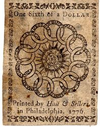 1776 Continental Currency 1/6 Dollar