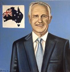 """Malcolm Turnbull"", ""Malcolm Bligh Turnbull"", 29th ""Prime Minister"", ""Australia"", ""Australian Prime Minister"", 2015 to 2018 ""Malcolm Turnbull portrait"", ""Malcolm Turnbull painting"","