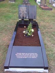 Black granite book full memorial
