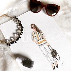Fashion Blogger Watercolor
