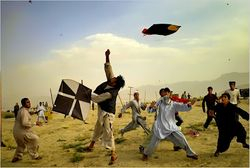 Catching a loose kite