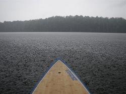 Rain on Occoquan Reservoir