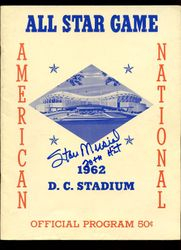 Stan Musial HOF Signed -20th Hit- 1962 All Star Game Program Scored AUTO Stan the Man COA