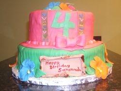 Fondant Luau Cake