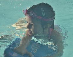 Sophie swimming