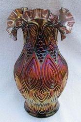 Mitred Ovals vase, amethyst