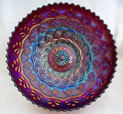 Persian Garden large IC shape bowl - Purple
