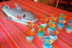 shark  45 servings $180, cookie cupcakes $5/each