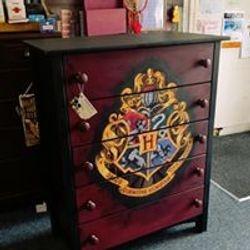 Hogwarts decoupaged poster