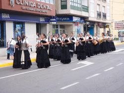 A marching band in Pobra