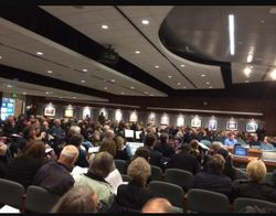 Nearly 300 in attendance at Planning Board Meeting