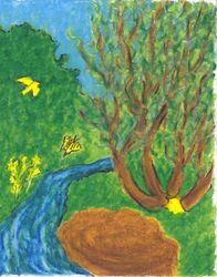 Everything is As it Should Be, Oil Pastel, 11x14, Original Sold
