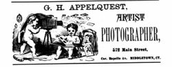 G. H. Appelquest, photographer of Middletown, CT