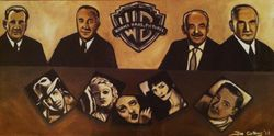 """Warner Brothers"", Sam Warner"", ""Harry Warner"",""Jack Warner"", and ""Albert Warner"", with ""Humphrey Bogart"", ""Jean Harlow"", ""Bette Davis"", ""Louise Brooks"",and ""Errol Flynn"",""Producers"","