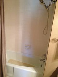 old shower tub combo from 1975--before