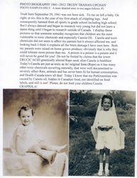 I was not born sick.