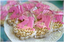 21st Birthday Decorated Cookie Plaques