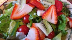 Strawberry Kiwi Tomato Salad