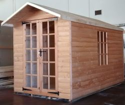 Apex Summer House (10' x 6') Georgian Style Windows And Doors